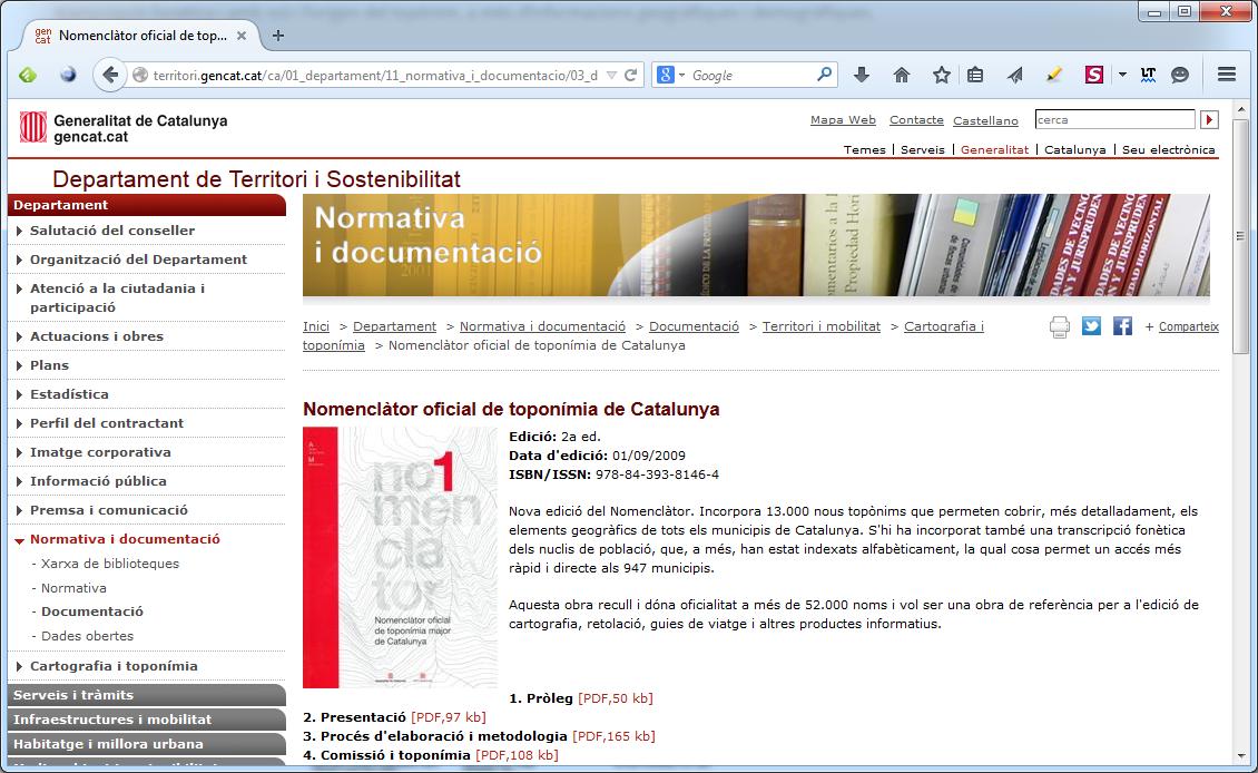Nomenclàtor oficial de toponímia de Catalunya