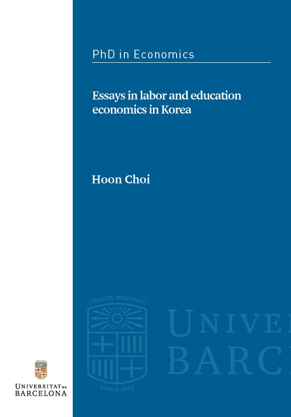 Phd thesis of economics