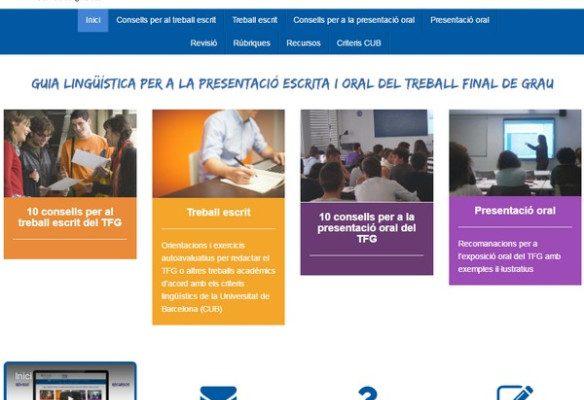 Guia lingüística per a la presentació escrita i oral del TFG