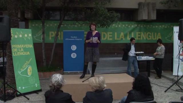 Acte Sant Jordi 2010 a la Facultat d'Economia i Empresa