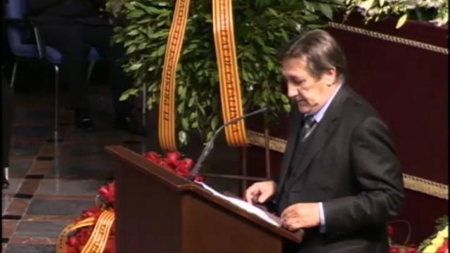 Acte de comiat del professor Joan Solà al Paranimf de la Universitat de Barcelona