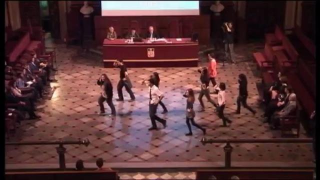 Flash Mob. Benvinguda als estudiants internacionals