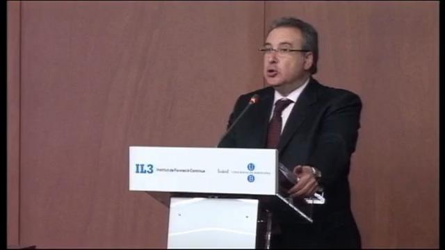 Acte d'inauguració del curs acadèmic 2010-2011 de l'Institut de Formació Contínua de la Universitat de ...<br/>Barcelona (IL3-UB)