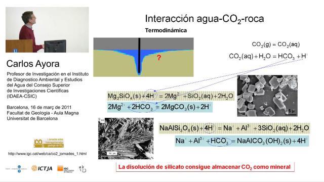 Bases geoquímicas del Almacenamiento Geológico del CO2
