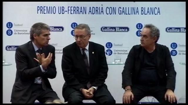 Lliurament del Premi UB-Ferran Adrià amb Gallina Blanca