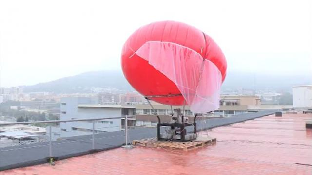 Enlairament del globus aerostàtic prototip per a la prospecció eòlica