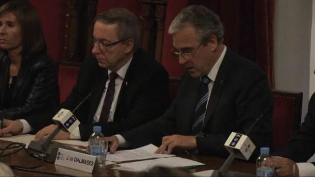 Signatura del conveni de col·laboració UB i Col·legi de Farmacèutics de Barcelona