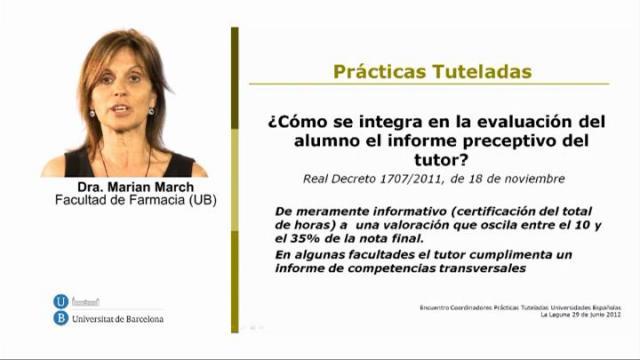 Presentació Virtual. Pràctiques tutelades de les Facultats de Farmàcia espanyoles