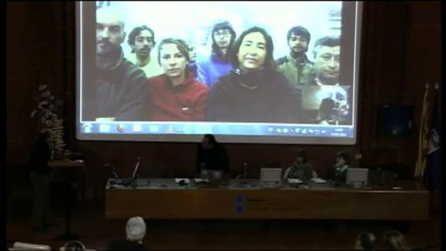 Connexió per videoconferència entre la UB i la base antàrtica Gabriel de Castilla