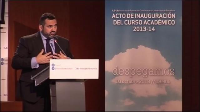 Acte d'Inauguració del curs Acadèmic 2013-2014 de l'Institut de Formació Contínua de la Universitat de ...<br/>Barcelona (IL3-UB)