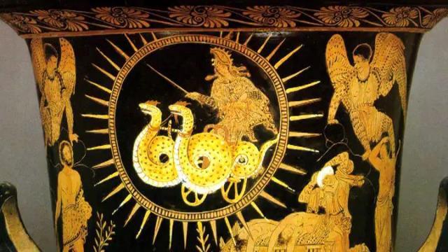 Medea, en un carro del Sol