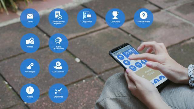 El rector presenta l'app SocUB als estudiants