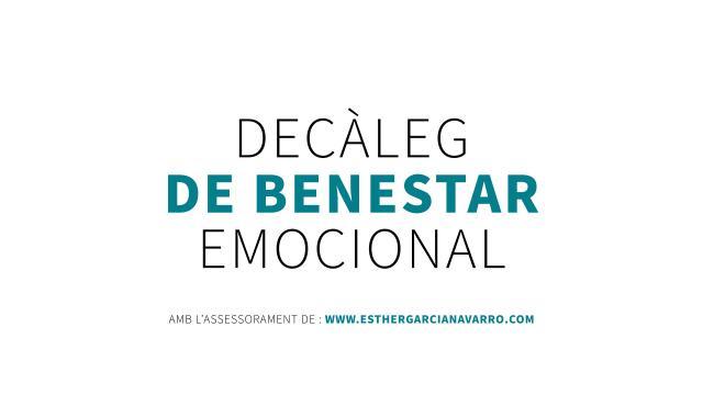 Decàleg de benestar emocional - UB Saludable