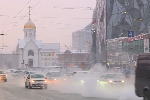 Car exhaust air pollution in cities. Novosibirsk, winter 2021. Photo: S. Duhovnikov
