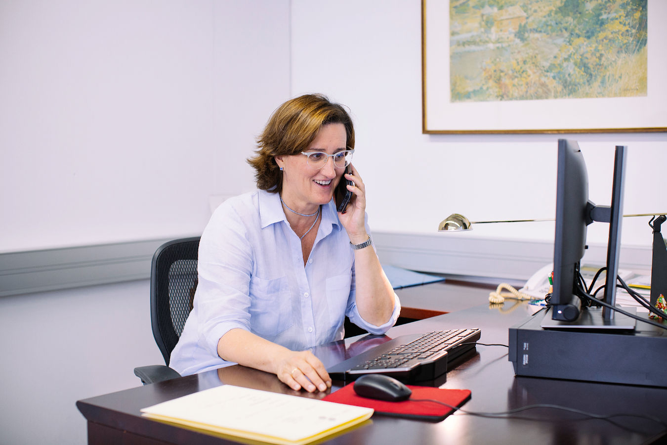 The vice-rector for Academic Planning and Quality, Mercè Puig, at the office.