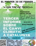 Presentation of the Third report on climate change in Catalonia