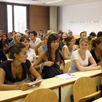 Photograph of international students in a classroom