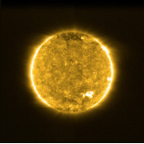 Solar Orbiter's first view of the Sun. Image: Solar Orbiter/EUI Team/ESA & NASA; CSL, IAS, MPS, PMOD/WRC, ROB, UCL/MSSL