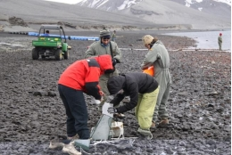 The experts study the role of natural marine products in Antarctic ecosytems.