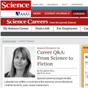 Portada de la web de <i>Science Careers</i>.