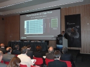 A moment during the presentation in the Madrid's main office of the European Space Astronomy Center (ESAC).