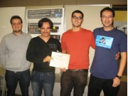 Sergio Escalera, Oscar Lopes, Miguel Reyes and Jordi González, winners of the third prize of the ICPR.