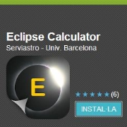 Eclipse Calculator mobile application developed by the UB.