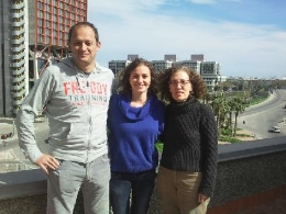 Researchers Raúl Estévez, Sònia Sirisi and Virginia Nunes.