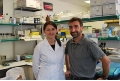 Researchers Mònica Cubillos and José Luis Rosa.- Described novel regulator of the activity of a protein inactive in over 50% of human tumours