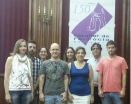 Experts Anna M. Canudas, Christian Griñan-Ferré, Sònia Abad, David Porquet, Miren Ettcheto, Mercè Pallàs, Antoni Camis and Ignacio Pedrós, members of the Research Group on Aging and Neurodegeneration of UB (GREN).