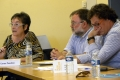 The Vice-Rector Carme Panchón; the director of UB Solidarity Foundation, Xavier López, and the director of the European Observatory on Memories, Jordi Guixé.- A seminar analyses the problems derived from memory multiplicity in the Eastern Pyrenees and Catalonia