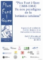 The opening of the exhibition takes place on Wednesday 15 October, at 6.30 p.m.- UB hosts an exhibition about Pius Font i Quer, a model for botanists