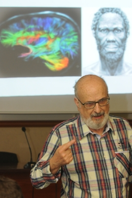 He has published more than sixty scientific articles about normal behaviour and pathological brain function. Last March, he gave a lecture that analysed brain-computer interaction future possibilities.