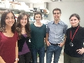 From left to right, researchers Raquel Boque-Sastre, Cristina Oliveira-Mateos, Marta Soler, Manel Esteller and Sonia Guil. - Discovered a regulatory mechanism of antisense DNA