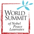 Logo of the World Summit of Nobel Peace Laureates.- The University of Barcelona hosts the opening of the 15th World Summit of Nobel Peace Laureates