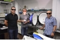 Researchers from the Department of Engineering of the University of Barcelona, Sergi Hernández, Adrià Huguet y Blas Garrido.- Researchers of the UB develop a new LED technology to get biologically adapted light