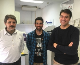 From left to right, UB researchers: Francisco Javier Luque, Sergio Ruiz Carmona and Xavier Barril.