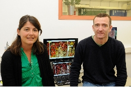 The experts Cristina Linares and Bernat Hereu, from the Faculty of Biology of the University of Barcelona.