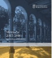 "Cover of the report on the academic year 2015-2016. - The ""Report on the academic year 2015-2016"" has been published"