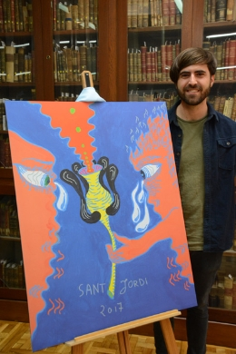 Former Student of Fine Arts, Aldo Urbano, is the winner of this year's UB poster for Sant Jordi.