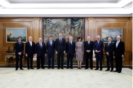 King Felipe VI received the UIU rectors on the occasion of the summit. Photo: Casa del Rey (King's Household).