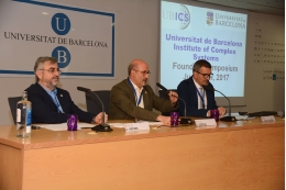 In the opening session of the Symposium, which took place on June 12, participated the dean of the Faculty of Physics, Atilà Herms; the Vice-Rector for Research of the UB, Domènec Espriu and the Director of the UBICS, Albert Diaz-Guilera.