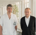Researchers Àlex Iranzo and Eduard Tolosa. Photo: Hospital Clínic- Medical imaging allows early detection of Parkinson in patients with sleeping disorders