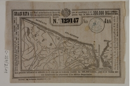 Ticket from a 1859 lottery to raise money for the Hispano-Moroccan War.
