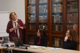 Les professores Núria Pumar i Anna Villarroya van presentar el document de la LERU, <i>A challenge to the meritocratic principle and to women's careers - And what to do about it</i>.