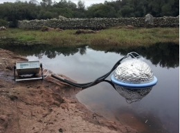 The experts analysed fluxes of CO₂ and CH₄ in small temporary ponds in Menorca.