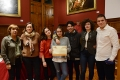 The winners with the vice-rector for Students and Language Policy, Mercè Puig, and the director of SAE, M. Assumpta Rivera.- Institut Montjuïc wins the UB League of Debate for Secondary Schools
