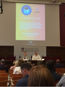 The Rector, Joan Elias,and the vice-rector for Digital Transformation, Oriol Pujol, opened the conference.