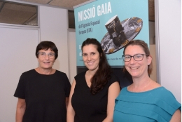 From left to right: ICCUB researchers Cesca Figueras, Teresa Antoja and Mercè Romero.
