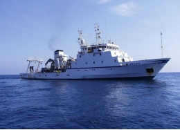 The R/V <i>Urania</i> took part in the scientific research in the Mediterranean sea.